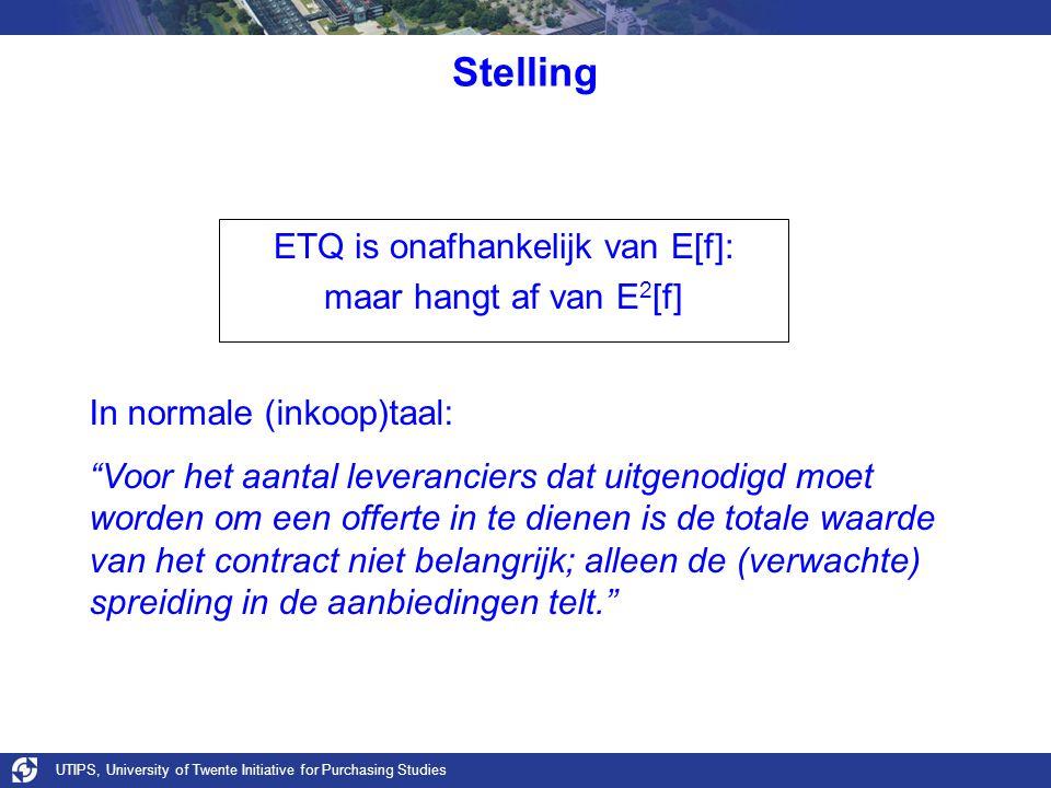 ETQ is onafhankelijk van E[f]: